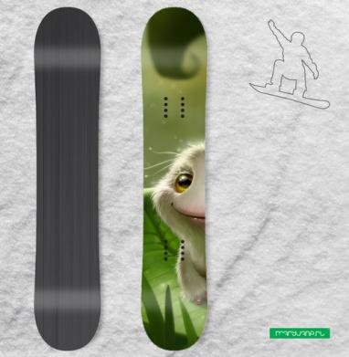 Лягушка выздоровела - Наклейки на доски - сноуборд, скейтборд, лыжи, кайтсерфинг, вэйк, серф