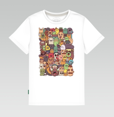 Второй векторный дудл, Детская футболка белая 160гр