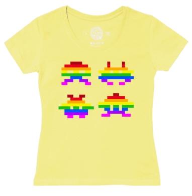 Футболка женская желтая - Rainbow Monsters