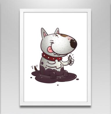 Довольный буль - Постеры, собаки, Популярные