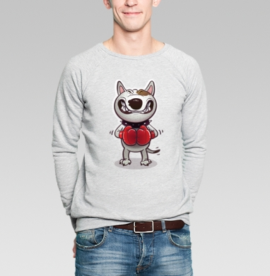 Сердитый буль - Купить мужские свитшоты с собаками в Москве, цена мужских свитшотов с собаками  с прикольными принтами - магазин дизайнерской одежды MaryJane