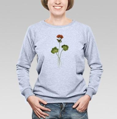Травинка Герань - Купить детские свитшоты с акварелью в Москве, цена детских свитшотов с акварелью  с прикольными принтами - магазин дизайнерской одежды MaryJane