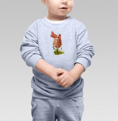 Избушка на курьих ножках - Купить детские свитшоты с природой в Москве, цена детских свитшотов с природой  с прикольными принтами - магазин дизайнерской одежды MaryJane