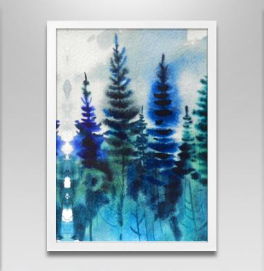 Северный лес - Постеры, деревья, Популярные
