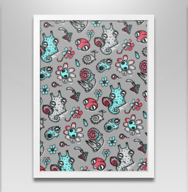 Улитки, черепа и ромашки - Постеры, грибы, Популярные