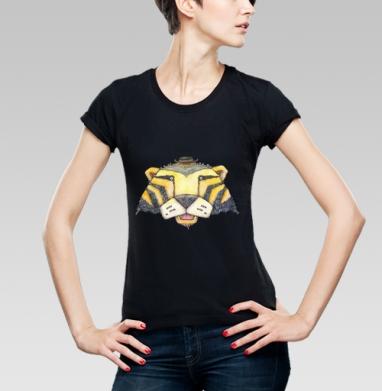Тигр, Футболка женская чёрная