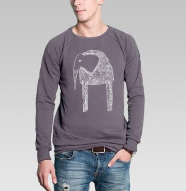 Свитшот мужской без капюшона тёмно-серый, тёмно-серый - Каталог мужских товаров и принтов.