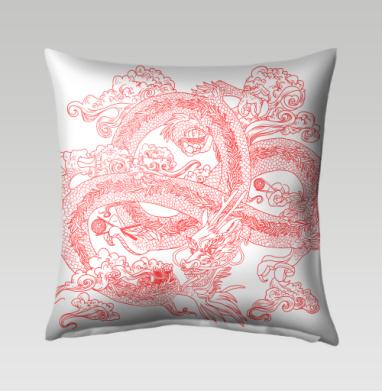 Голодный дракон - Подушки с принтом
