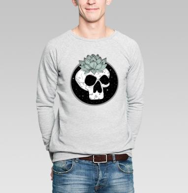 Череп лотос  - Купить мужские свитшоты модные в Москве, цена мужских свитшотов модных  с прикольными принтами - магазин дизайнерской одежды MaryJane