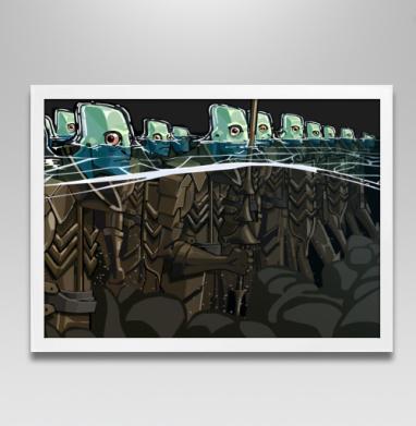 Витязи морские - Постер в белой раме