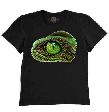 Футболка мужская чёрная 200гр - Глаз крокодила