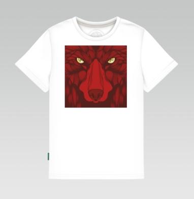 Квадратный волк, Детская футболка белая 160гр