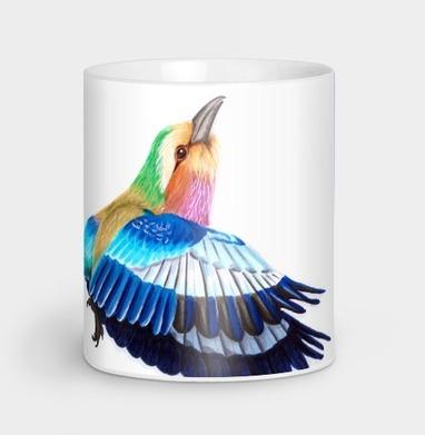 Яркая летящая птица - Кружки с логотипом