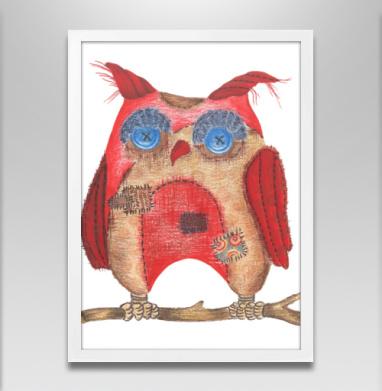 Лоскутная сова - Постеры, птицы, Популярные