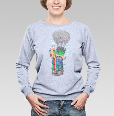 Эко-улитка - Купить женские свитшоты с природой в Москве, цена женских свитшотов с природой  с прикольными принтами - магазин дизайнерской одежды MaryJane