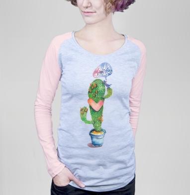 Вязаный кактус - Футболки с длинным рукавом женские