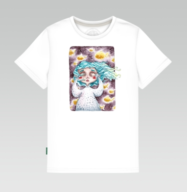 В моем сне плавали золотые рыбы, Детская футболка белая 160гр
