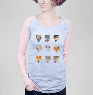 Котитки девять - Футболки с длинным рукавом женские