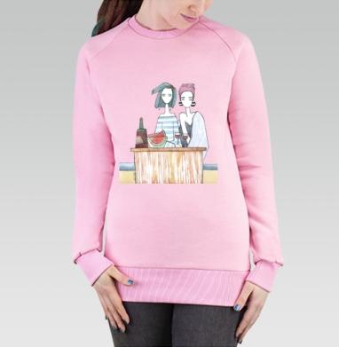 Подруги три - Cвитшот женский розовый  320гр, стандарт, Популярные