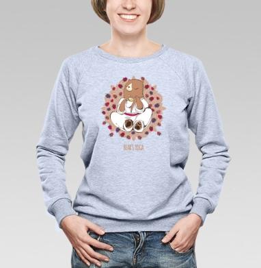 Медвежья йога  - Купить женские свитшоты с природой в Москве, цена женских свитшотов с природой  с прикольными принтами - магазин дизайнерской одежды MaryJane