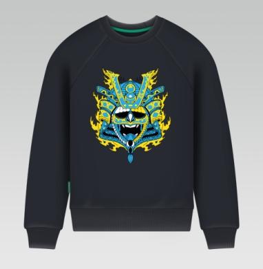 Свитшот мужской темн-синий 340гр, теплый - Samurai mask