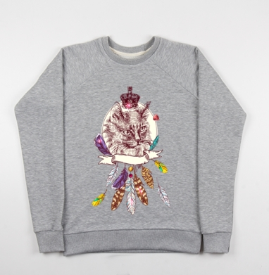 Английская котолева - Купить детские свитшоты модные в Москве, цена детских свитшотов модных  с прикольными принтами - магазин дизайнерской одежды MaryJane