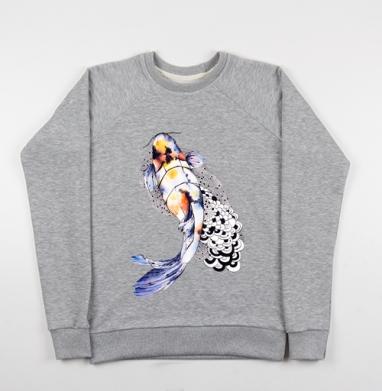 Рыбка кои - Купить детские свитшоты с горами в Москве, цена детских свитшотов с горами с прикольными принтами - магазин дизайнерской одежды MaryJane