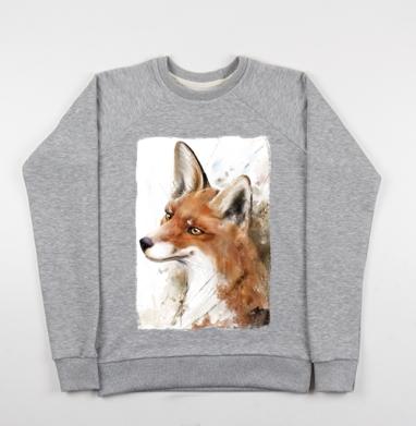 Рыжая лиса - Купить детские свитшоты с природой в Москве, цена детских свитшотов с природой  с прикольными принтами - магазин дизайнерской одежды MaryJane