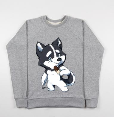 Сладкие собачки - эскимо - Купить детские свитшоты с животными в Москве, цена детских свитшотов с животными  с прикольными принтами - магазин дизайнерской одежды MaryJane