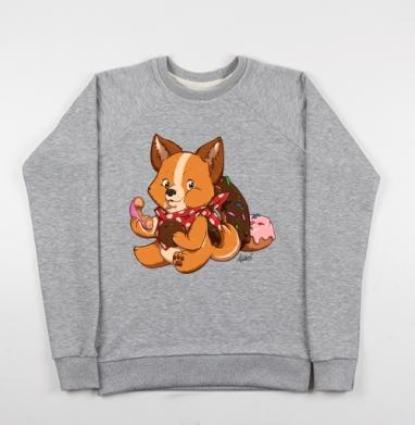 СЛАДКИЕ СОБАЧКИ - ПОНЧИК - Купить детские свитшоты с животными в Москве, цена детских свитшотов с животными  с прикольными принтами - магазин дизайнерской одежды MaryJane