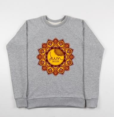 Солнце внутри - Купить детские свитшоты с солнцем в Москве, цена детских свитшотов с солнцем с прикольными принтами - магазин дизайнерской одежды MaryJane