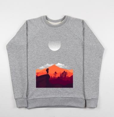 Турист - Купить мужские свитшоты с горами в Москве, цена мужских свитшотов с горами с прикольными принтами - магазин дизайнерской одежды MaryJane