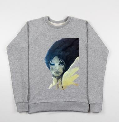Ундина - Купить детские свитшоты с акварелью в Москве, цена детских свитшотов с акварелью  с прикольными принтами - магазин дизайнерской одежды MaryJane