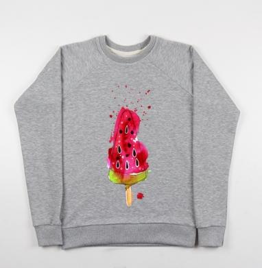 Арбузное мороженное - Купить детские свитшоты с илюстрациями в Москве, цена детских свитшотов с илюстрациями  с прикольными принтами - магазин дизайнерской одежды MaryJane
