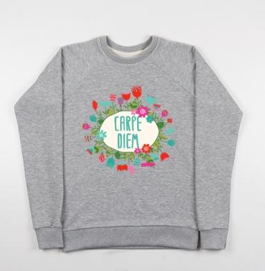 Carpe Diem - Купить детские свитшоты с цитатами в Москве, цена детских свитшотов с цитатами  с прикольными принтами - магазин дизайнерской одежды MaryJane