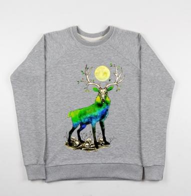 Дух ночного леса - Купить детские свитшоты с черепом в Москве, цена детских свитшотов с черепом  с прикольными принтами - магазин дизайнерской одежды MaryJane