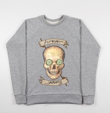 Forever young (вечно молодой) - Купить детские свитшоты с черепом в Москве, цена детских свитшотов с черепом  с прикольными принтами - магазин дизайнерской одежды MaryJane