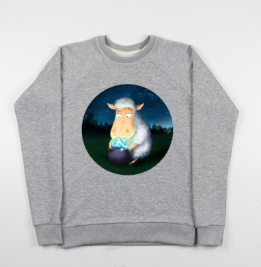 Горшочек для овечки - Купить детские свитшоты со сказками в Москве, цена детских свитшотов со сказками  с прикольными принтами - магазин дизайнерской одежды MaryJane