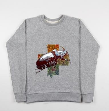 Жук-носорог - Купить детские свитшоты с насекомыми в Москве, цена детских свитшотов с насекомыми  с прикольными принтами - магазин дизайнерской одежды MaryJane