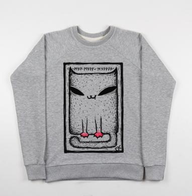 Катейка с лапками - Купить детские свитшоты с кошками в Москве, цена детских свитшотов с кошками  с прикольными принтами - магазин дизайнерской одежды MaryJane