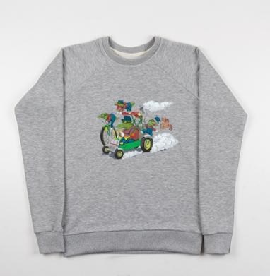 Крокодилы на прогулке - Купить детские свитшоты с велосипедом в Москве, цена детских свитшотов с велосипедом с прикольными принтами - магазин дизайнерской одежды MaryJane