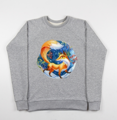 Лисонька - Купить детские свитшоты с акварелью в Москве, цена детских свитшотов с акварелью  с прикольными принтами - магазин дизайнерской одежды MaryJane