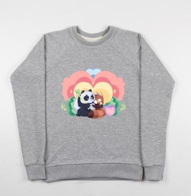 Любовь Панд - Купить детские свитшоты с природой в Москве, цена детских свитшотов с природой  с прикольными принтами - магазин дизайнерской одежды MaryJane
