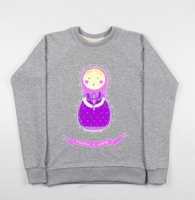 Матрешка - Купить детские свитшоты Россия в Москве, цена детских свитшотов Россия  с прикольными принтами - магазин дизайнерской одежды MaryJane