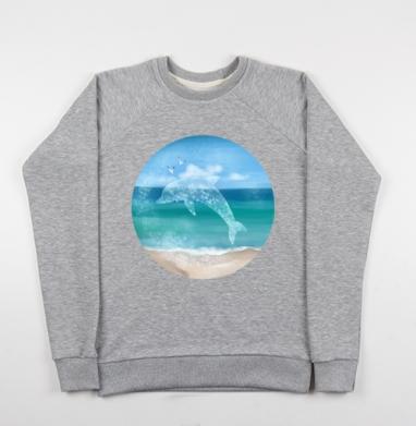 Морской князь - Купить детские свитшоты морские  в Москве, цена детских свитшотов морских   с прикольными принтами - магазин дизайнерской одежды MaryJane