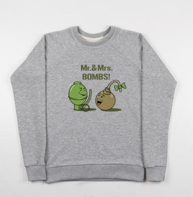 Mr. & Mrs. BOMBS! - Купить детские свитшоты секс в Москве, цена детских свитшотов секс  с прикольными принтами - магазин дизайнерской одежды MaryJane