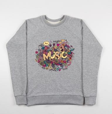 Музыка - Купить детские свитшоты музыка в Москве, цена детских свитшотов музыкальных  с прикольными принтами - магазин дизайнерской одежды MaryJane