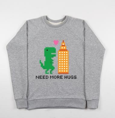 ОБНИМАШКОЗАВР - Купить детские свитшоты с городами в Москве, цена детских свитшотов с городами  с прикольными принтами - магазин дизайнерской одежды MaryJane