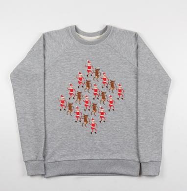 Олени и гномики - Купить детские свитшоты с людьми в Москве, цена детских свитшотов с людьми  с прикольными принтами - магазин дизайнерской одежды MaryJane