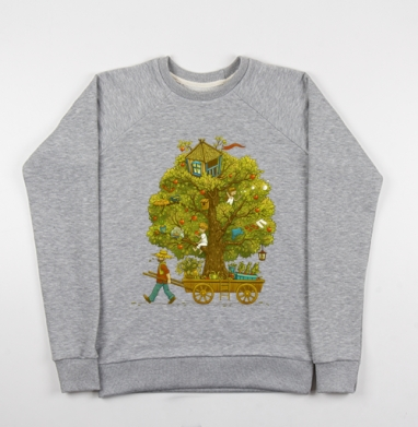 По дороге жизни - Купить детские свитшоты с деревьями в Москве, цена детских свитшотов с деревьями  с прикольными принтами - магазин дизайнерской одежды MaryJane